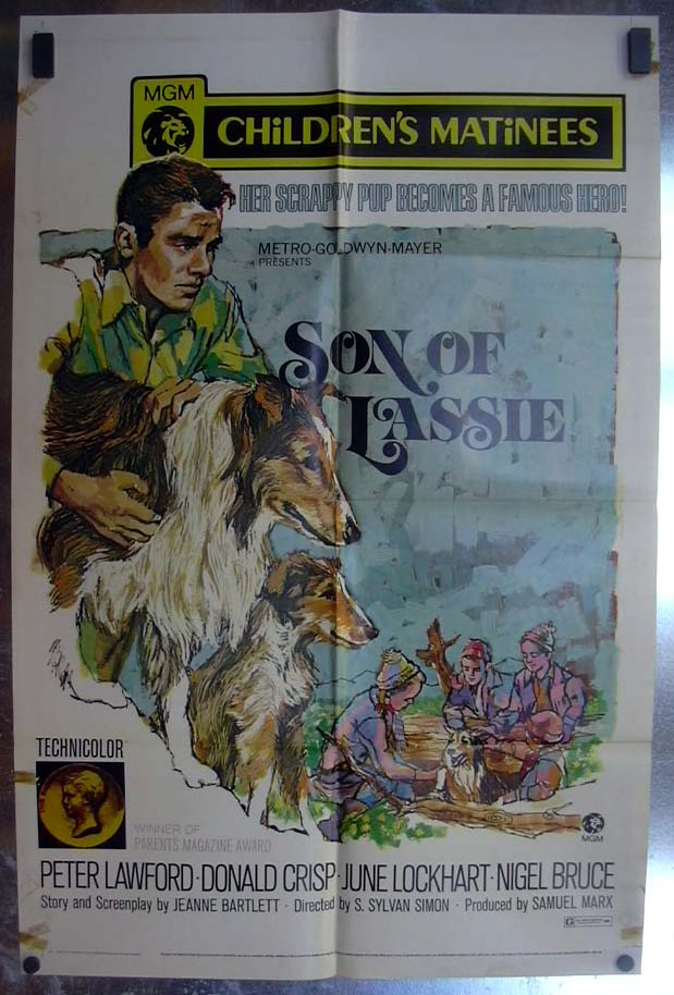 Image for Son of Lassie 1971 one-sheet movie poster Peter Lawford