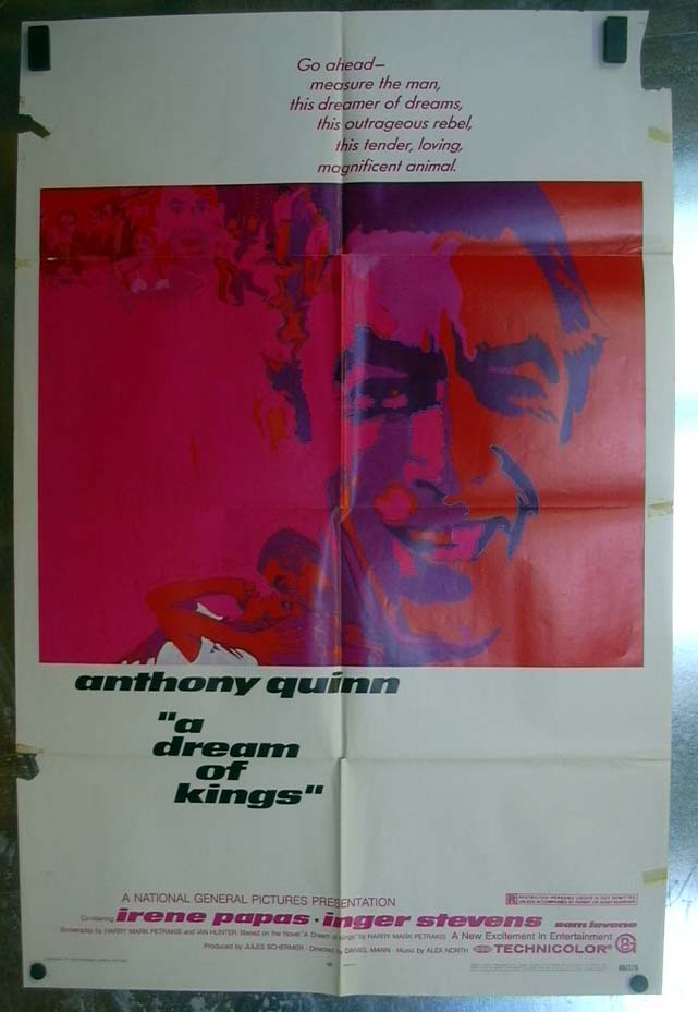 A Dream of Kings 1969 one-sheet movie poster Anthony Quinn