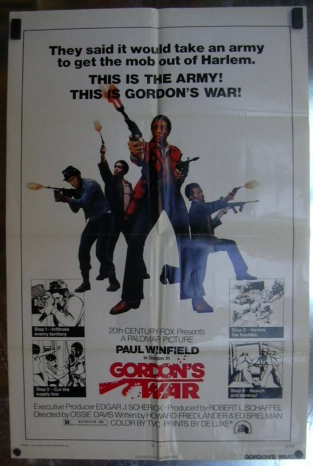 Gordon's War 1973 one-sheet movie poster Paul Winfield