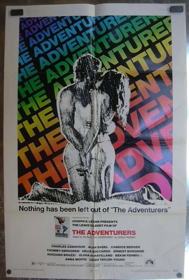 Image for The Adventurers 1970 one-sheet movie poster Candice Bergen