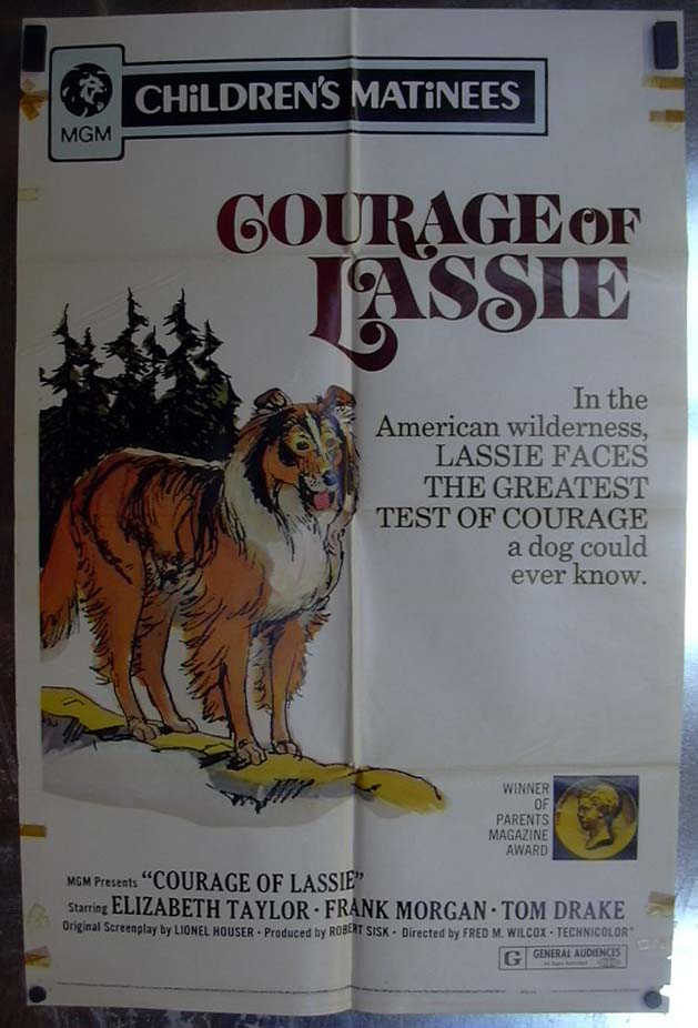Image for Courage of Lassie 1972 one-sheet movie poster Children's Matinee