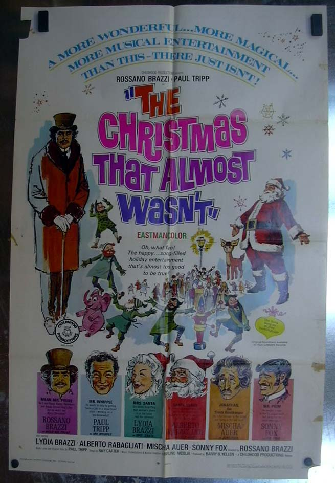 Image for The Christmas That Almost Wasn't 1966 one-sheet movie poster Rossanno Brazzi