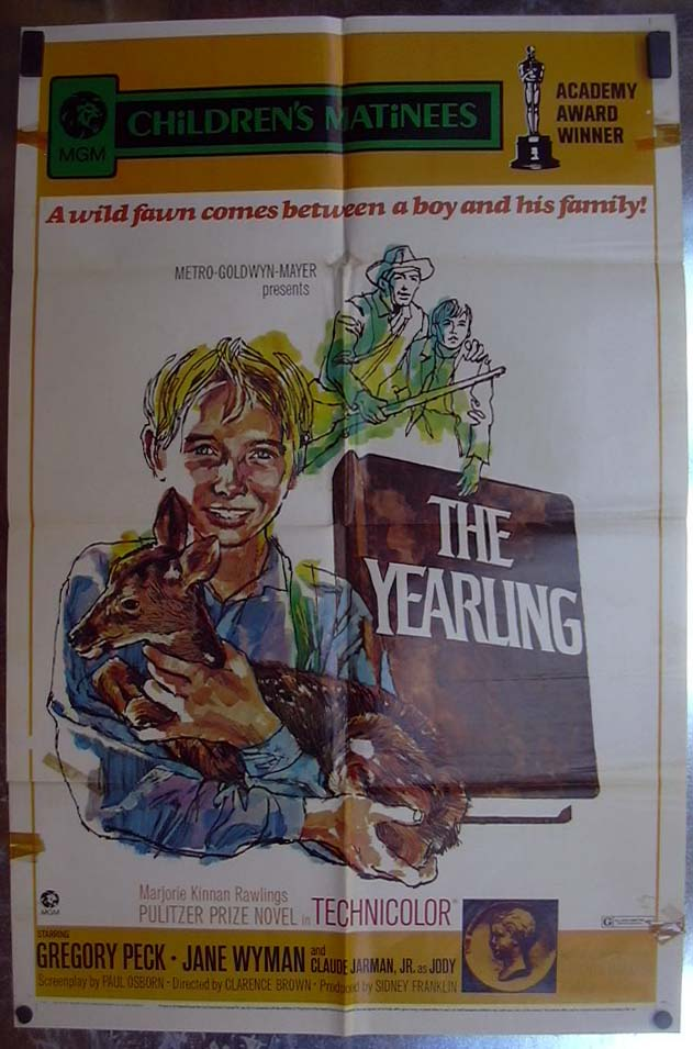 Image for The Yearling 1971 one-sheet movie poster Gregory Peck Claude Jarman Jr
