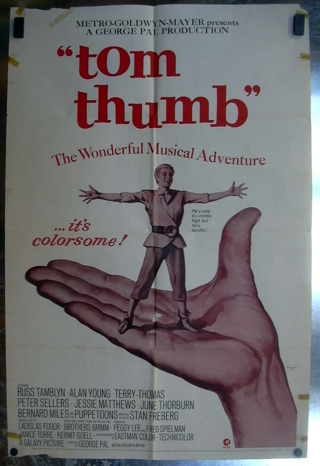 Image for Tom Thumb 1970 one-sheet movie poster Russ Tamblyn