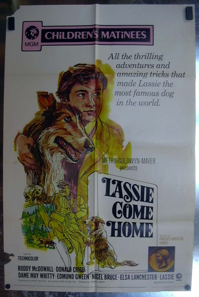 Image for Lassie Come Home 1971 one-sheet movie poster Roddy McDowall