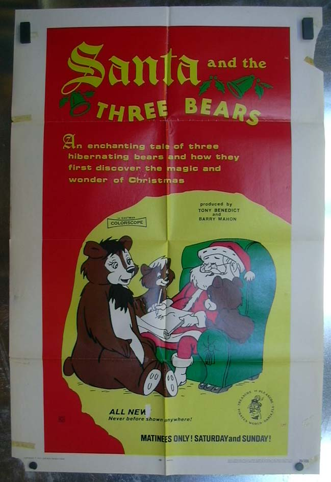 Image for Santa and the Three Bears 1970 one-sheet movie poster
