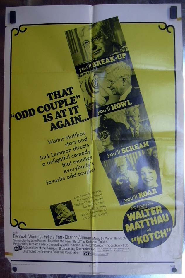 Image for Kotch 1971 one-sheet movie poster Walter Matthau