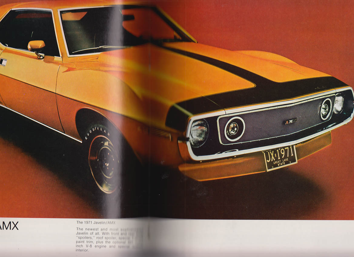 AMC American Motors brochure Javelin Gremlin Matador Ambassador Hornet