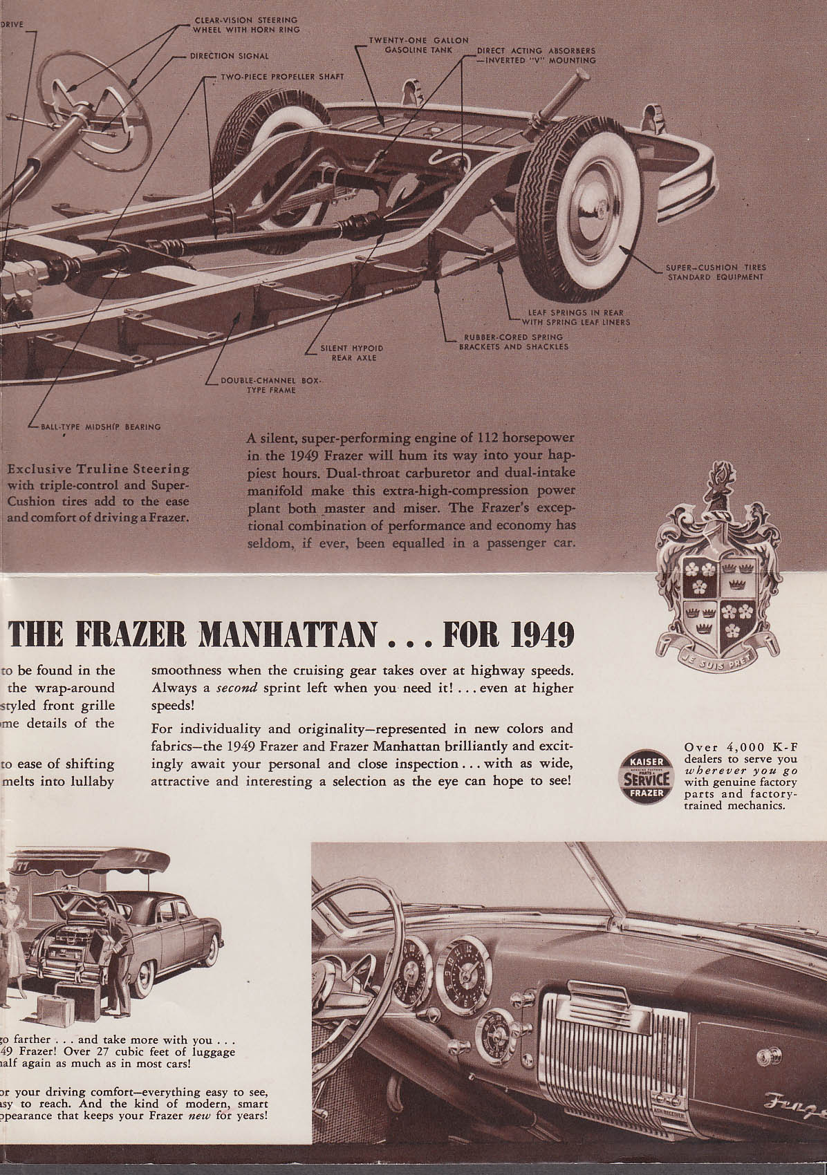 The Frazer & Frazer Manhattan for 1949 sales folder