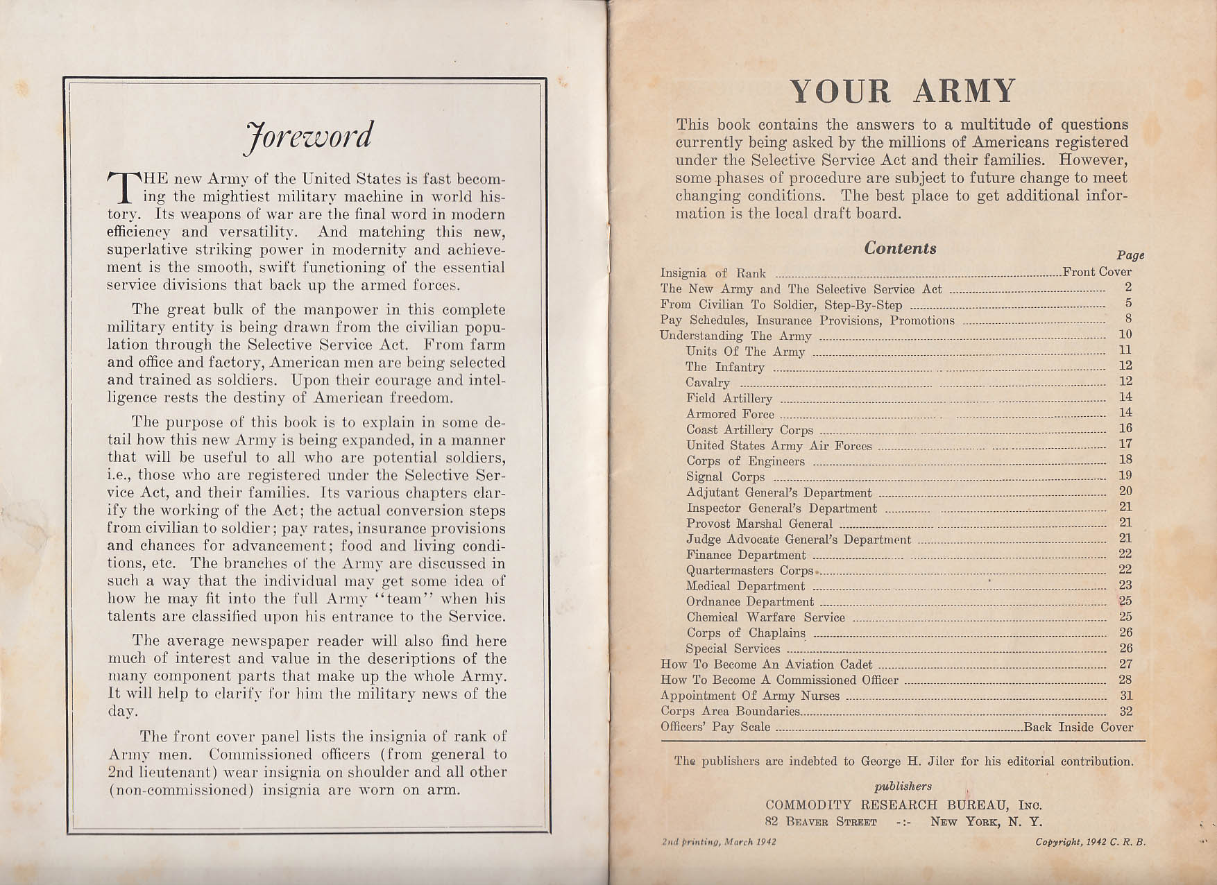 Your Army: Essential Information for Draft Age Males booklet 1942