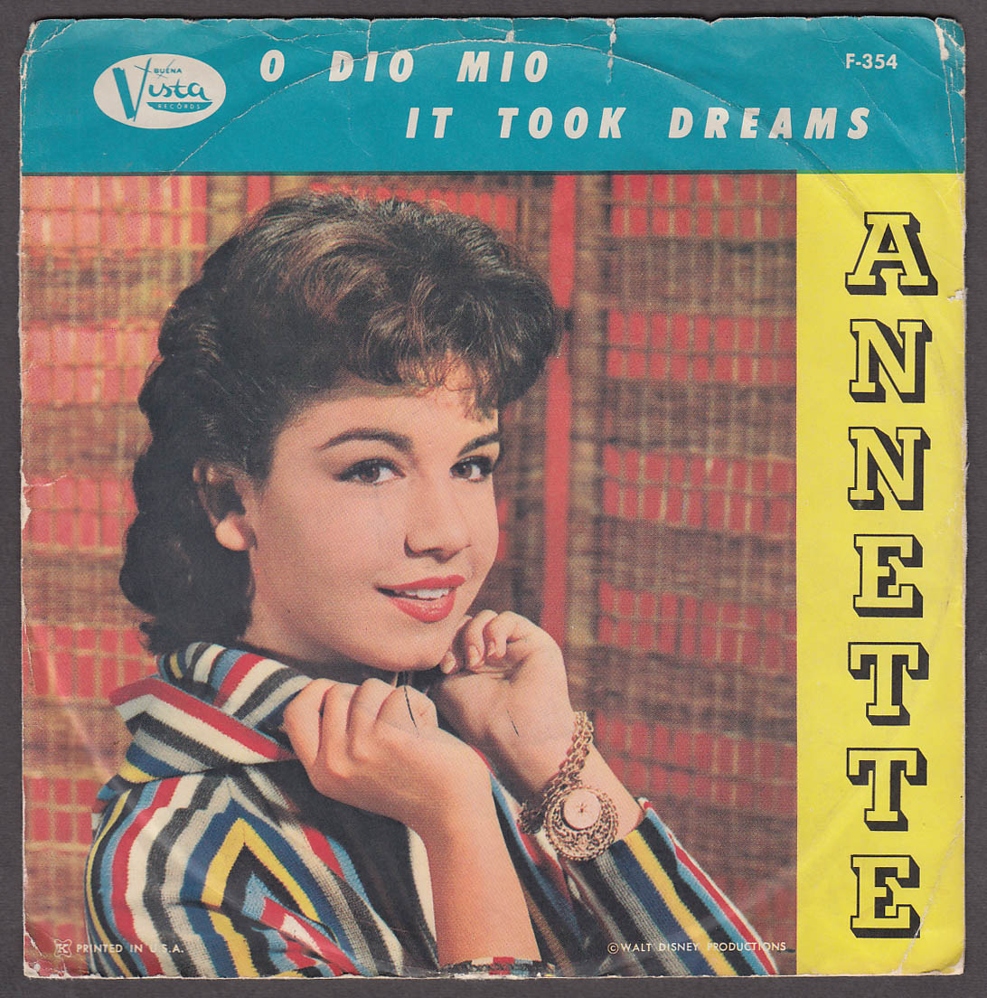 Annette Funicello 45rpm record O Dio Mio / It Took Dreams