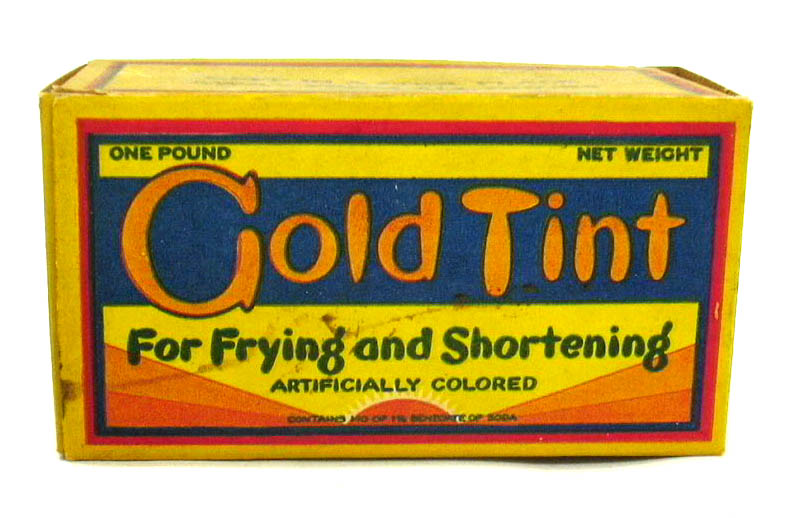 Gold Tint for Frying & Shortening empty box Baltimore Butterine ca 1930s