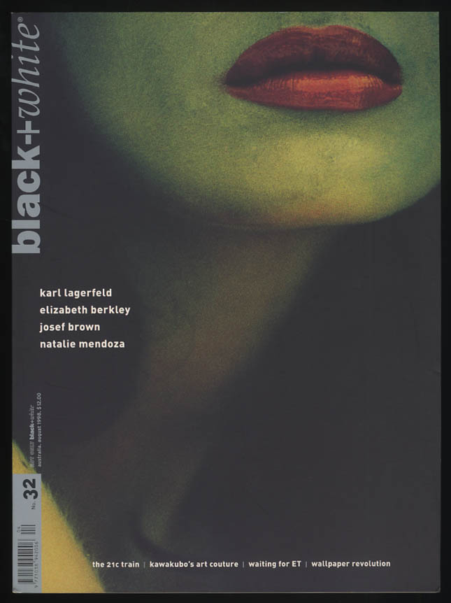 Image for NOT ONLY BLACK+WHITE #32 8 1998 Lagerfeld Josef Brown Mandoza Berkley Kawakubo