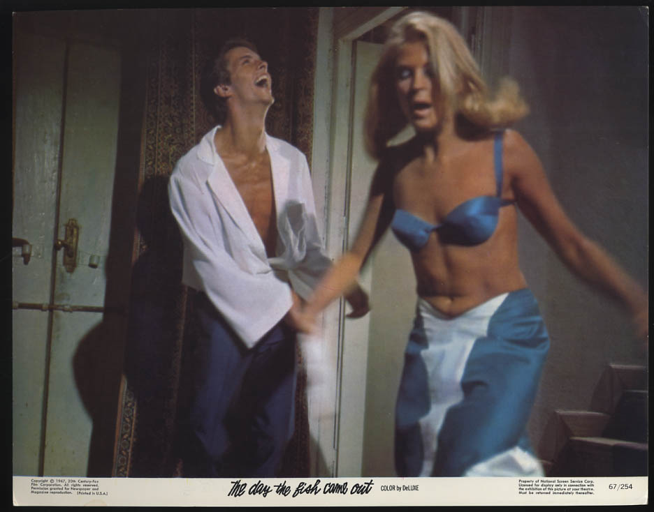 Image for The Day the Fish Came Out lobby card 1967 blonde blue bra Tom Courtenay