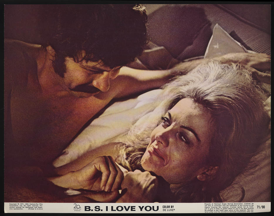 Image for B S I Love You lobby card 1971 Peter Kastner Joanna Barnes in bed