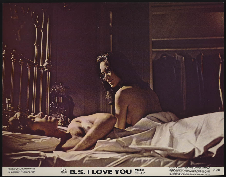 Image for B S I Love You lobby card 1971 JoAnna Cameron & ? In bed