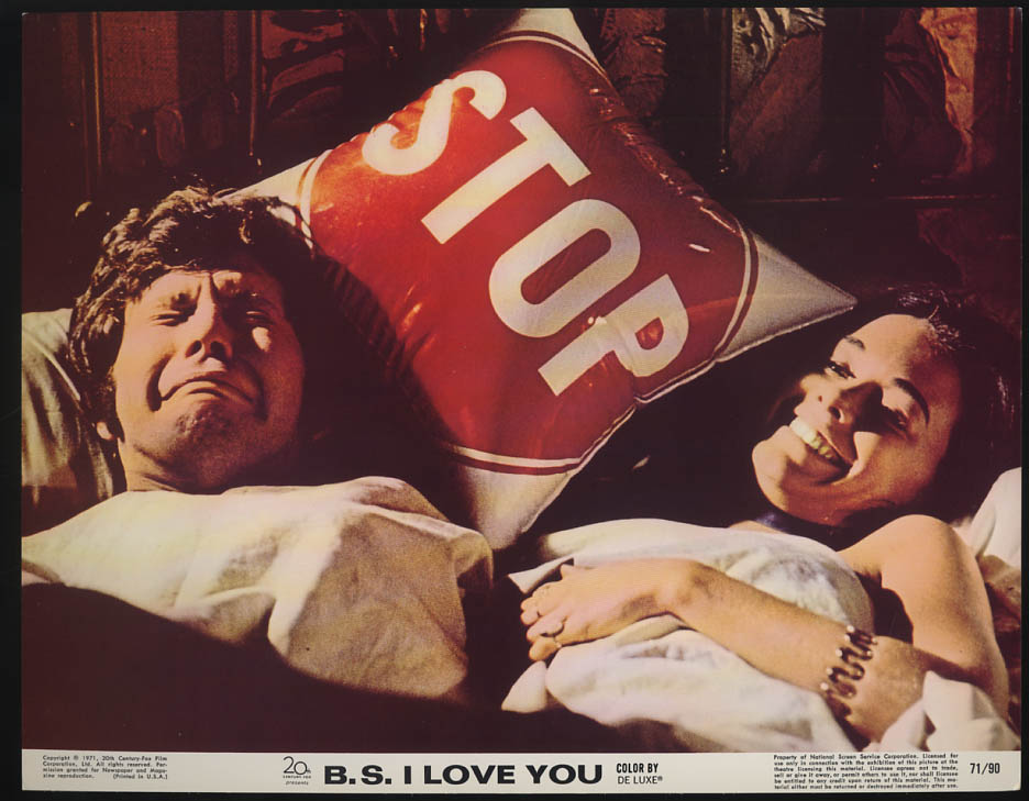 Image for B S I Love You lobby card 1971 JoAnna Cameron & crying man in bed