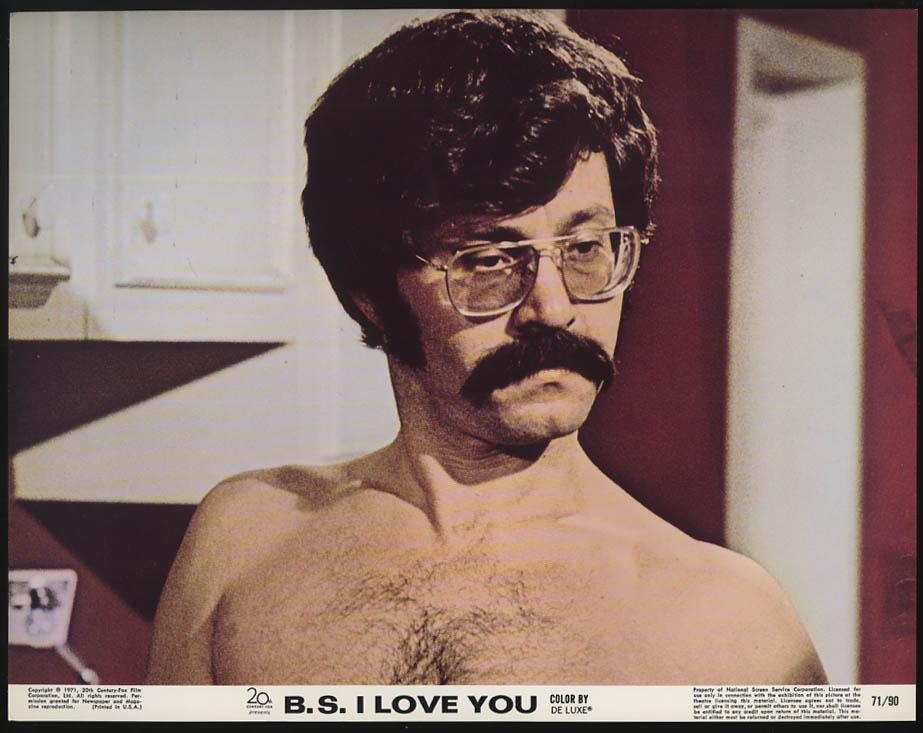 B S I Love You lobby card 1971 Peter Kastner in glasses & mustache no shirt