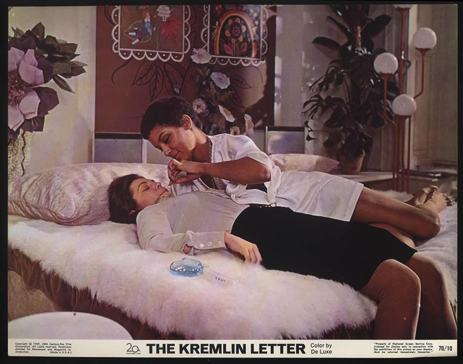 Image for The Kremlin Letter lobby card 1970 Lila Kedrova & Vonetta McGee in bed
