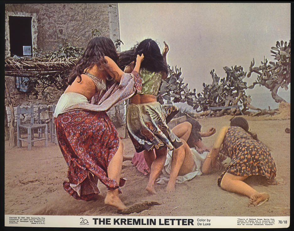 Image for The Kremlin Letter lobby card 1970 Cat fight with cactus