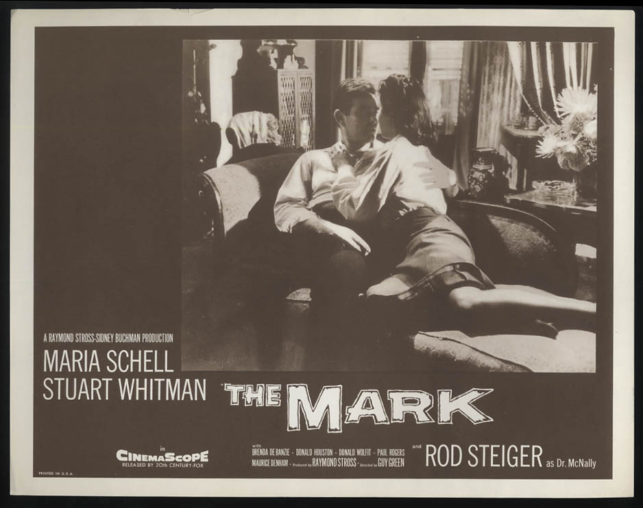 Image for The Mark lobby card 1961 Stuart Whitman Maria Schell on fainting couch