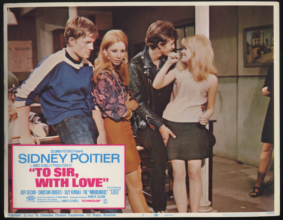 Image for To Sir, With Love lobby card 1967 Judy Geeson Christian Roberts et al