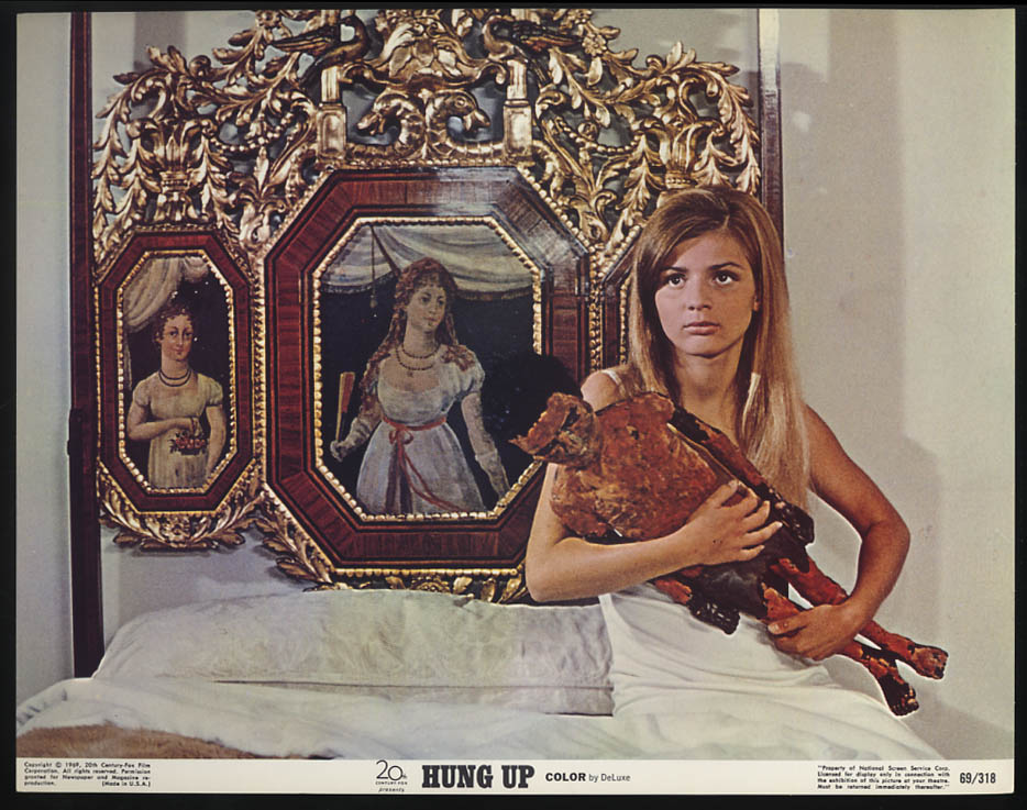 Hung Up lobby card 1973 Patricia Gozzi holds Negro boxer statue