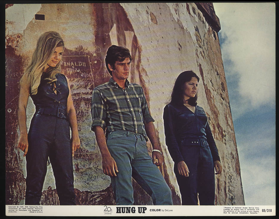 Image for Hung Up lobby card 1973 Patricia Gozzi & Julie Dassin & ? gaze down