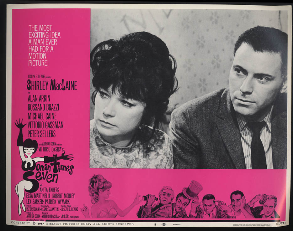 Image for Woman Times Seven lobby card 1967 Shirley MacLaine Alan Arkin