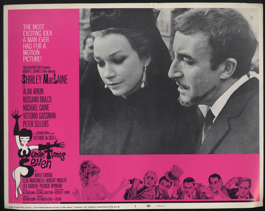 Image for Woman Times Seven lobby card 1967 Shirley MacLaine & Peter Sellers