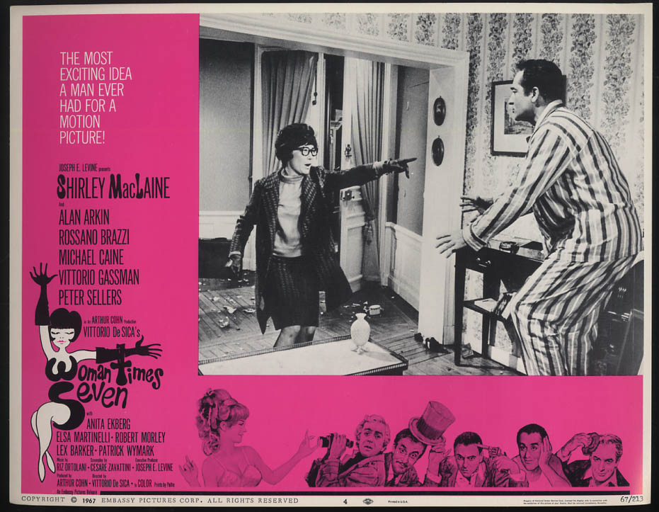Image for Woman Times Seven lobby card 1967 Shirley MacLaine & Rossano Brazzi