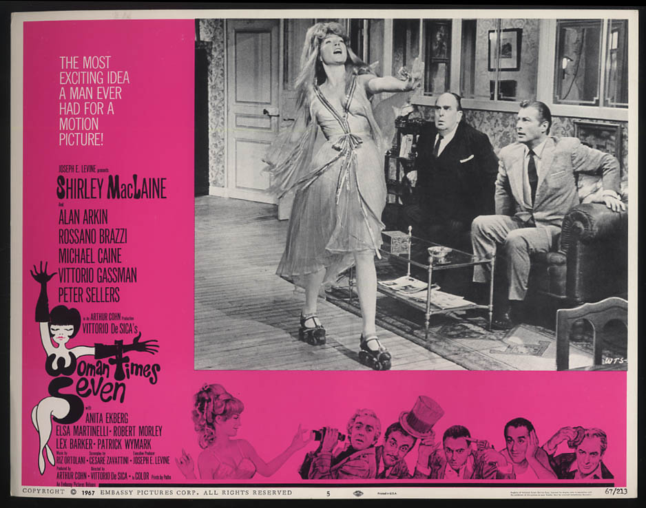 Image for Woman Times Seven lobby card 1967 Shirley MacLaine & Robert Morley +
