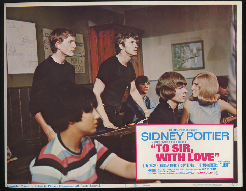 Image for To Sir, With Love lobby card 1967 Toughs at back of class & Judy Geeson