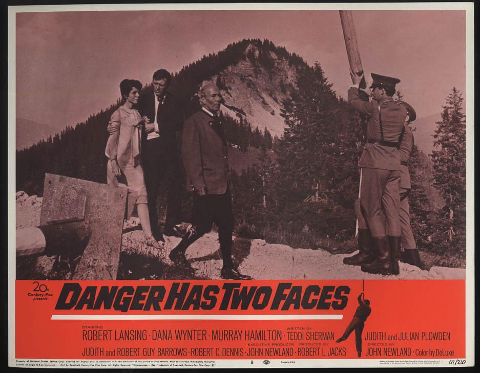 Danger Has Two Faces lobby card 1967 Robert Lansing Dana Wynter thru gate