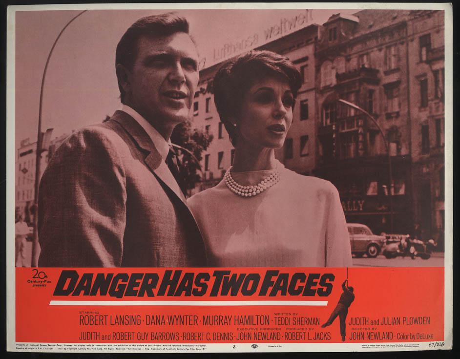 Image for Danger Has Two Faces lobby card 1967 Robert Lansing Dana Wynter
