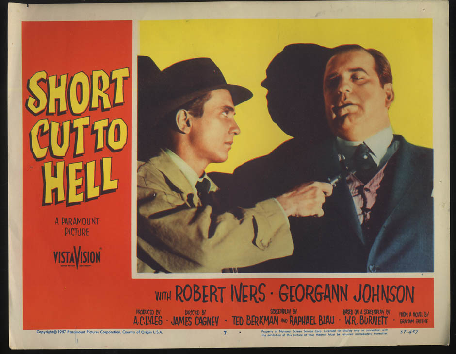 Image for Short Cut to Hell lobby card 1957 Robert Ivers switchblade for Jacques Aubuchon