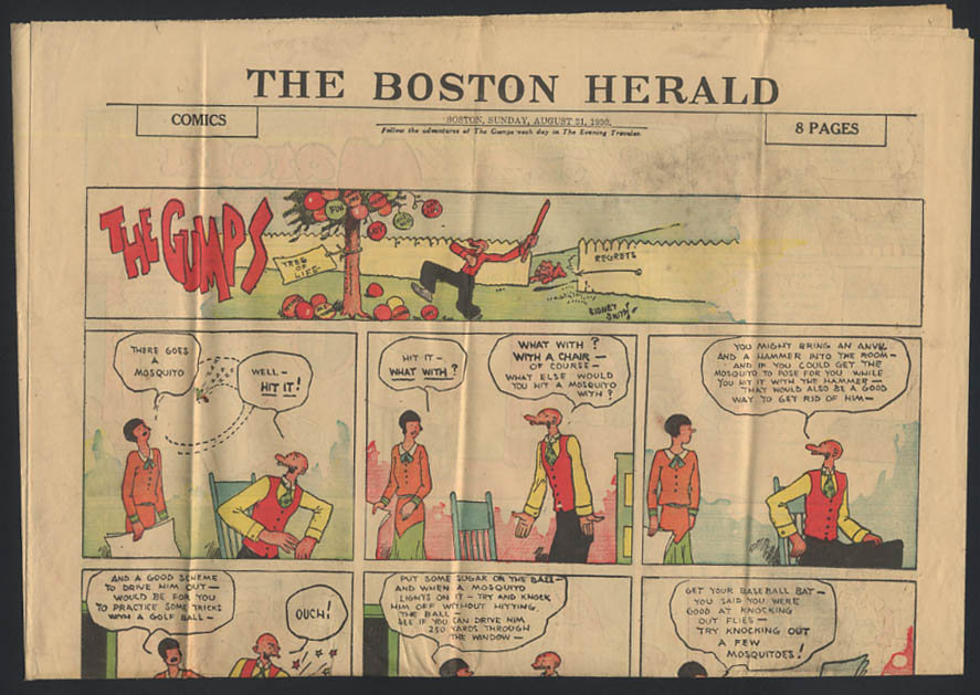 Boston Herald comics 8/31 1930 Little Orphan Annie ++