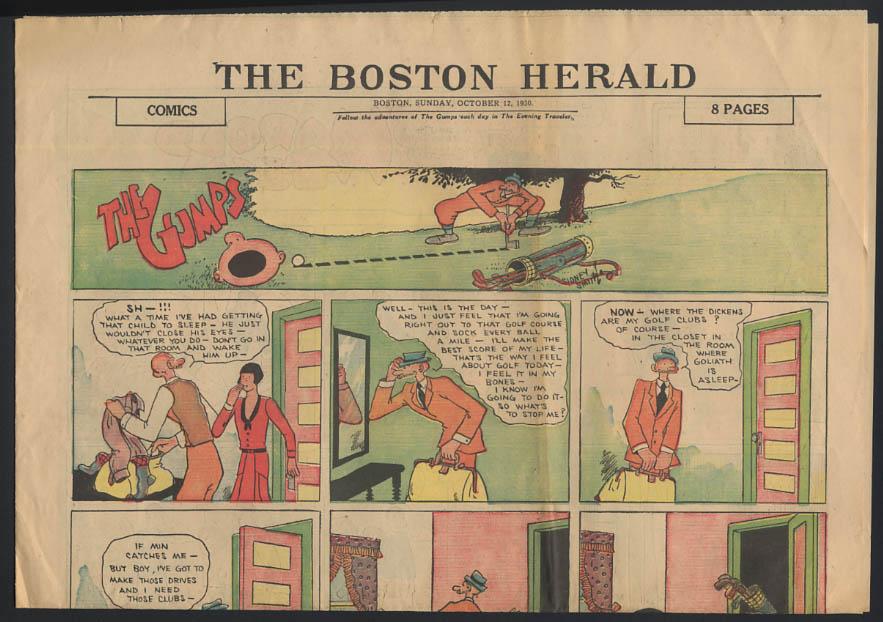 Boston Herald comics 10/12 1930 Little Orphan Annie +