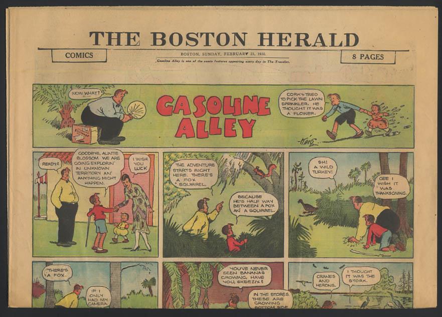 Boston Herald comics 2/23 1930 Little Orphan Annie ++