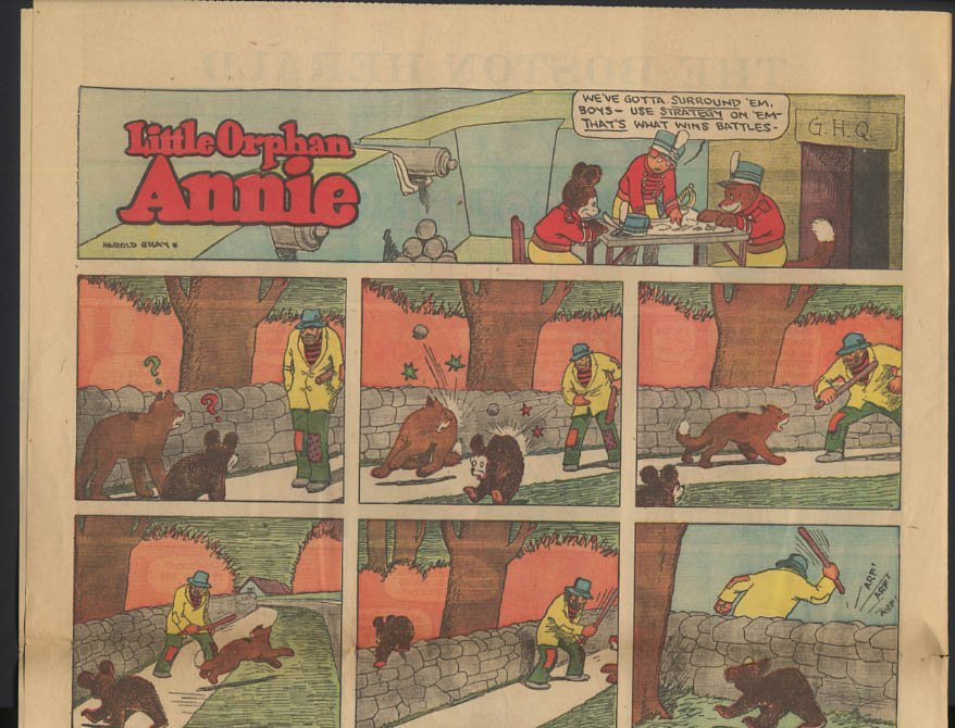 Image for Boston Herald comics 2/23 1930 Little Orphan Annie ++