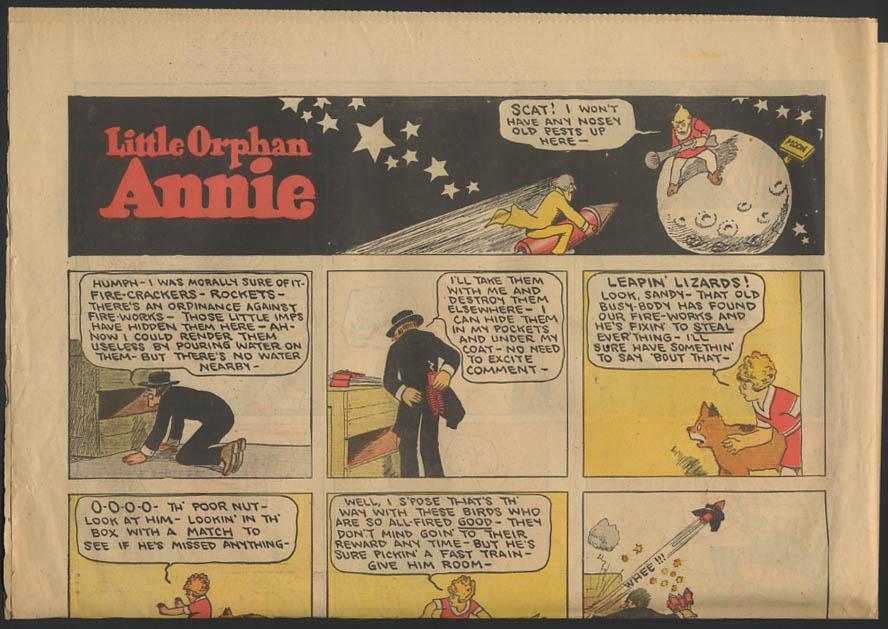 Image for Philadelphia Public Ledger comics 6/30 1929 Little Orphan Annie ++