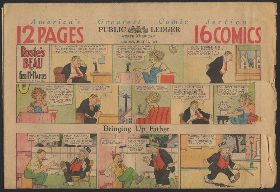 Image for Philadelphia Public Ledger comics 7/10 1927 Little Orphan Annie +