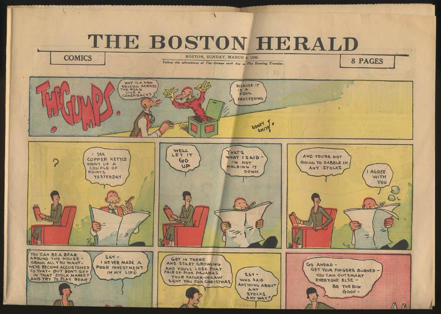 Boston Herald comics 3/9 1930 Little Orphan Annie Moon Mullins