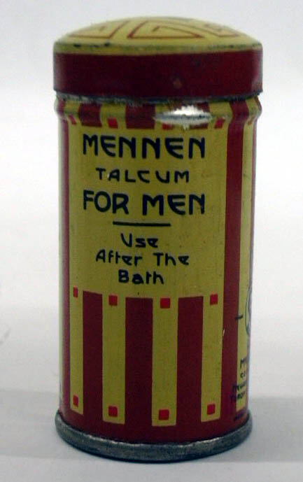 Mennen Talcum for Men After the Bath tin ca 1940s Newark NJ