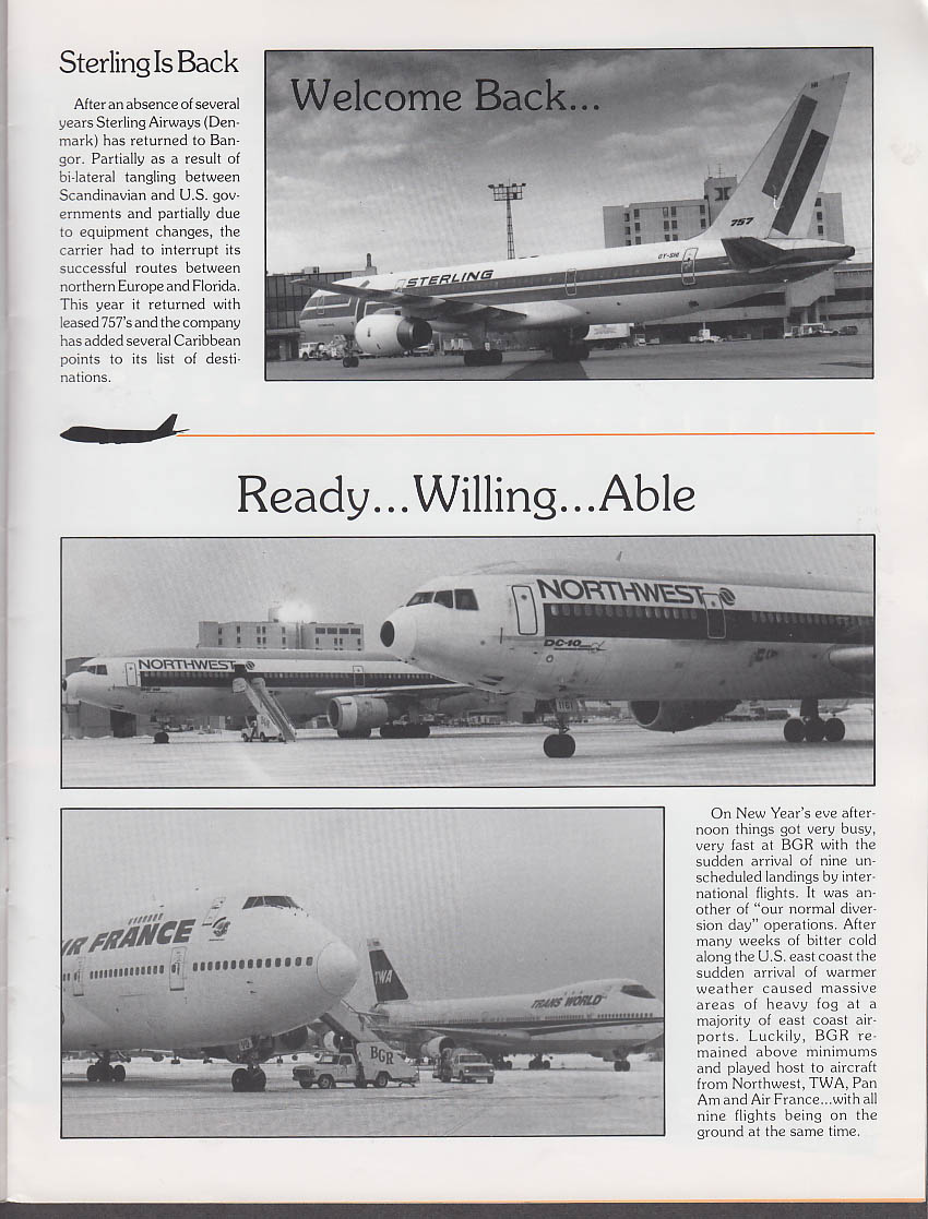 BGR Bangor International Airport 1989 Report