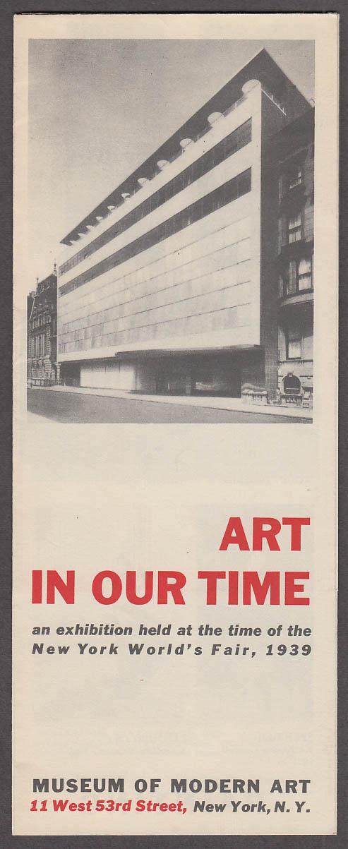 Image for New York World's Fair Museum of Modern Art Exhibition folder 1939