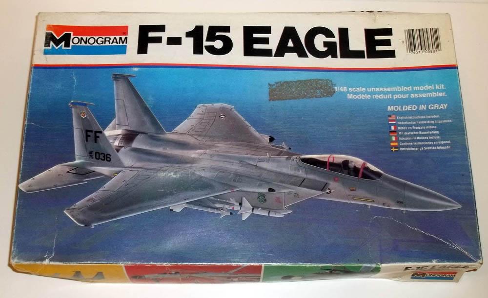 Monogram McDonnell Douglas F-15 Eagle 1/48 scale unbuilt model kit 1979