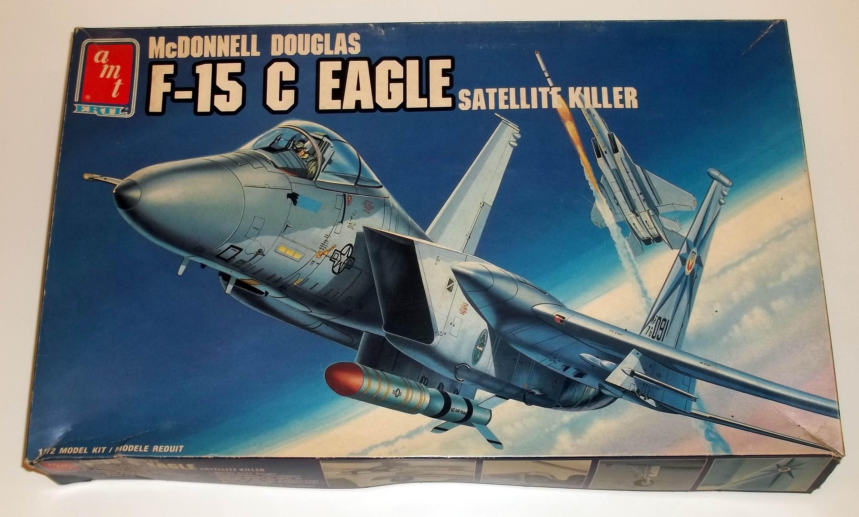 AMT McDonnell Douglas F-15C Eagle 1/72 unbuilt model kit 1988