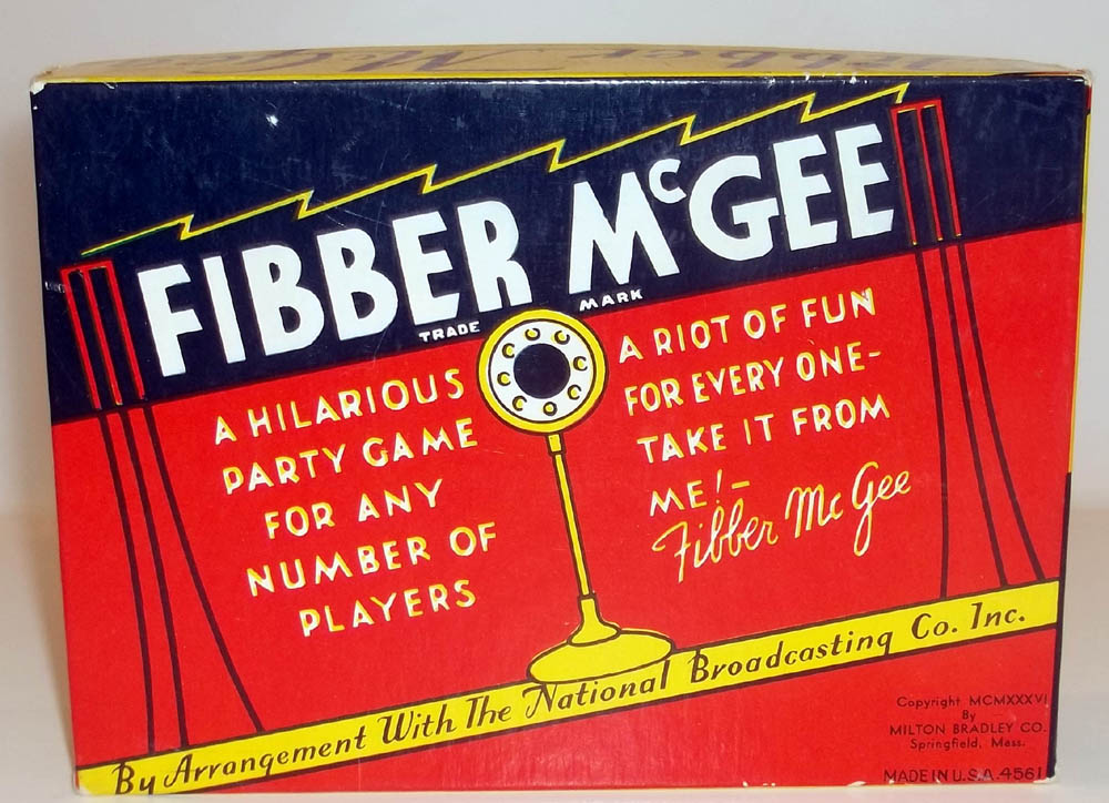 Milton Bradley Fibber McGee & Molly Party Game unused 1936 radio tie-in