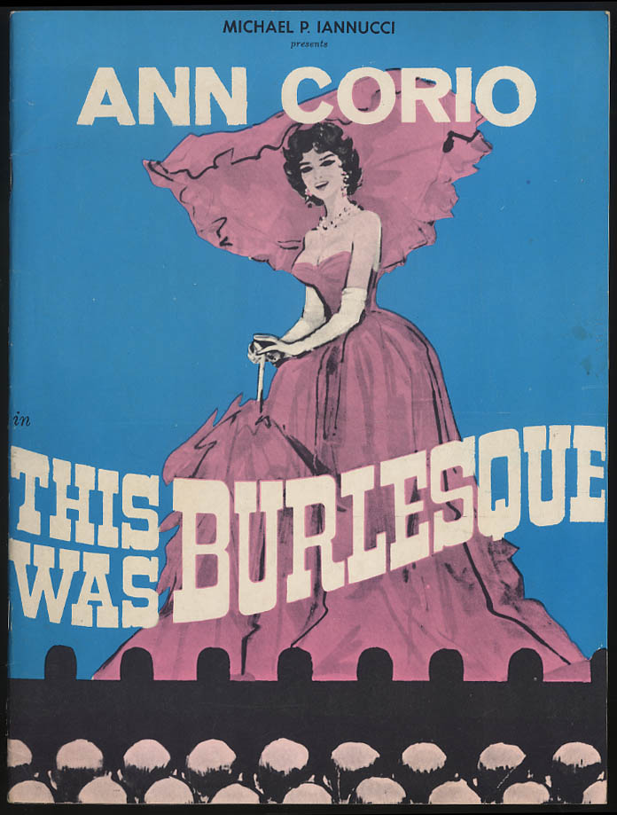 Ann Coio in This Was Burlesque souvenir program Pinky Lee insert 1968